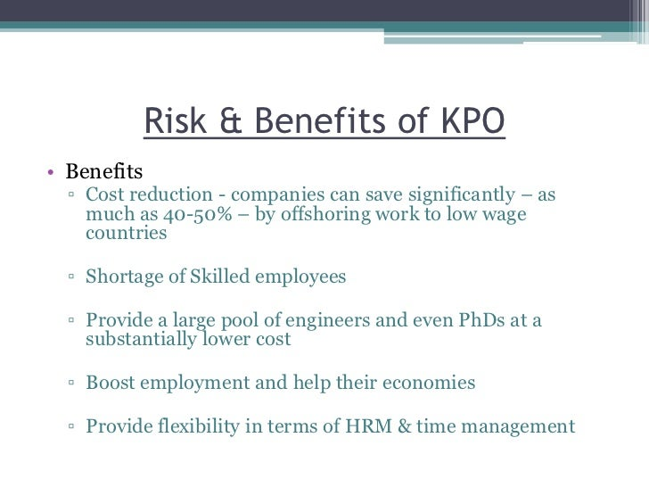 Benefits and Drawbacks of Process Outsourcing