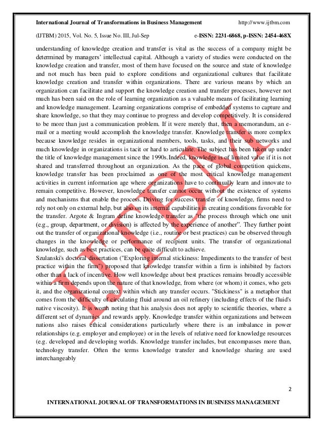 dissertation knowledge transfer Can i pay someone to make my resume dissertation knowledge transfer java homework service an essay about abortion.