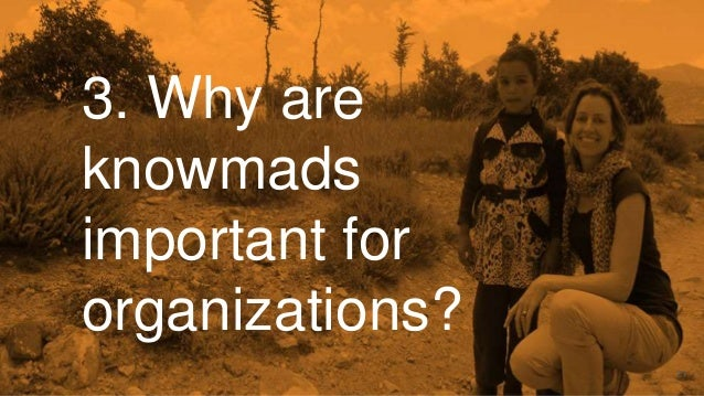 """""""Ik only want to work in an organisation offering sufficient time and recognition for working as a knowmad"""""""