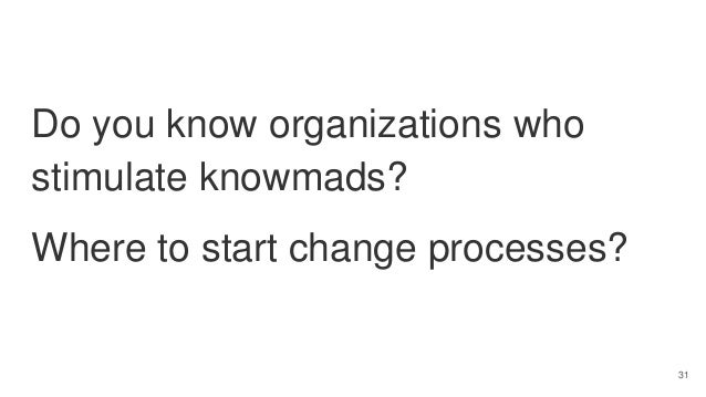 Knowmadic working in organizations