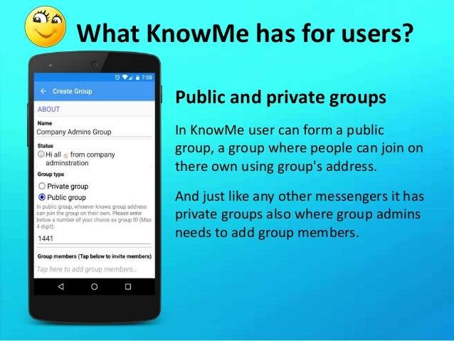 Know me messenger
