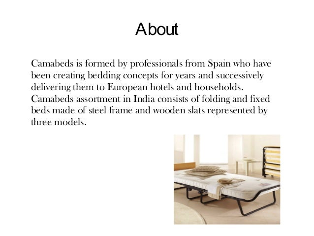 Know our products- Camabeds Slide 2