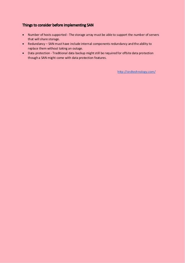 storage area network basics pdf