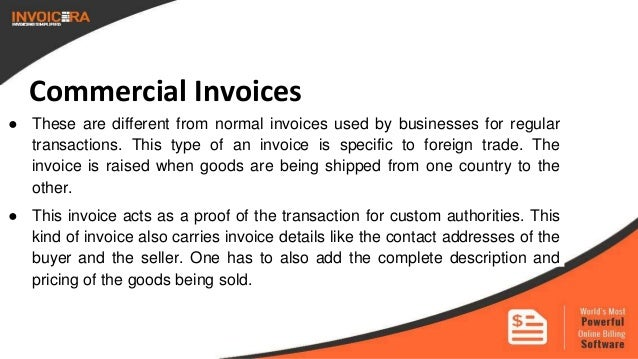 4 commercial invoices - Invoices For Businesses