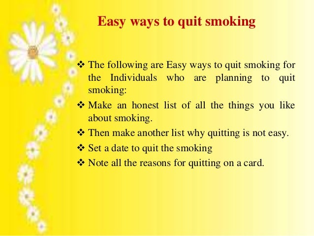 Best Natural Way To Quit Smoking Cigarettes