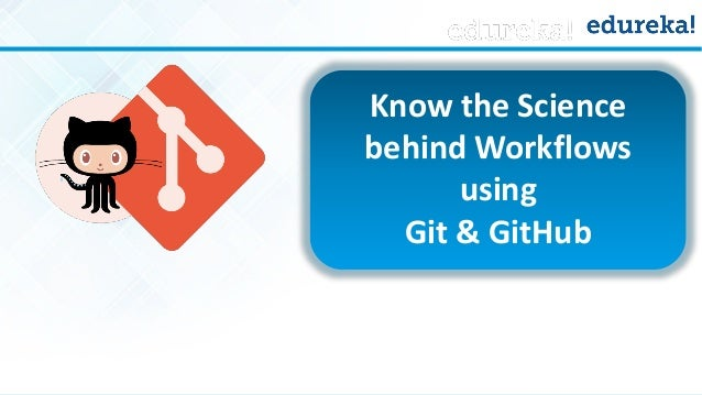 www.edureka.co/git-github Know the Science behind Workflows using Git & GitHub