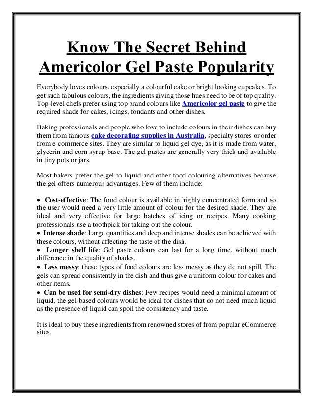 Know The Secret Behind Americolor Gel Paste Popularity