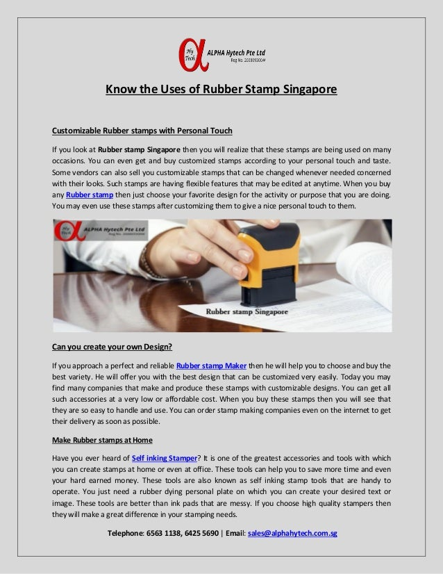 Rubber Stamp Singapore