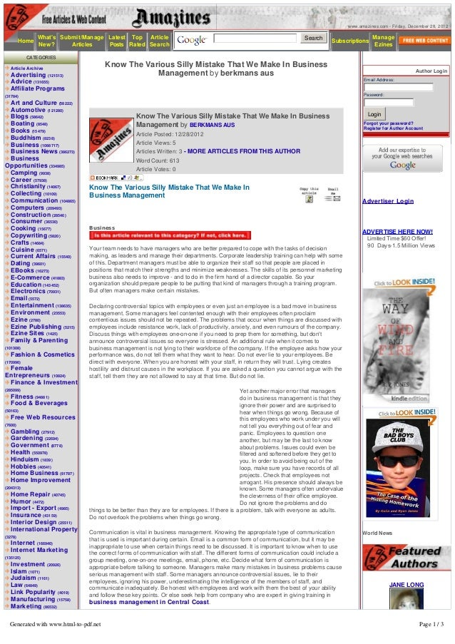 www.amazines.com - Friday, December 28, 2012              Whats Submit/Manage Latest Top Article                          ...