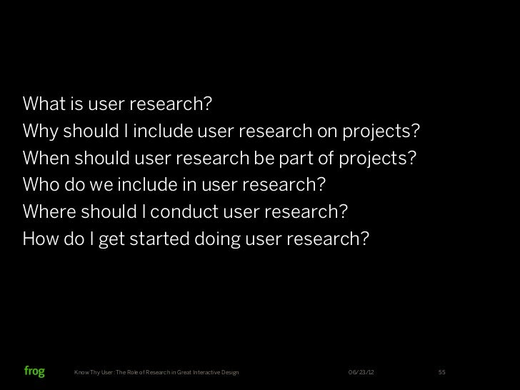 Know Thy User: The Role of Research in Great Interactive Design