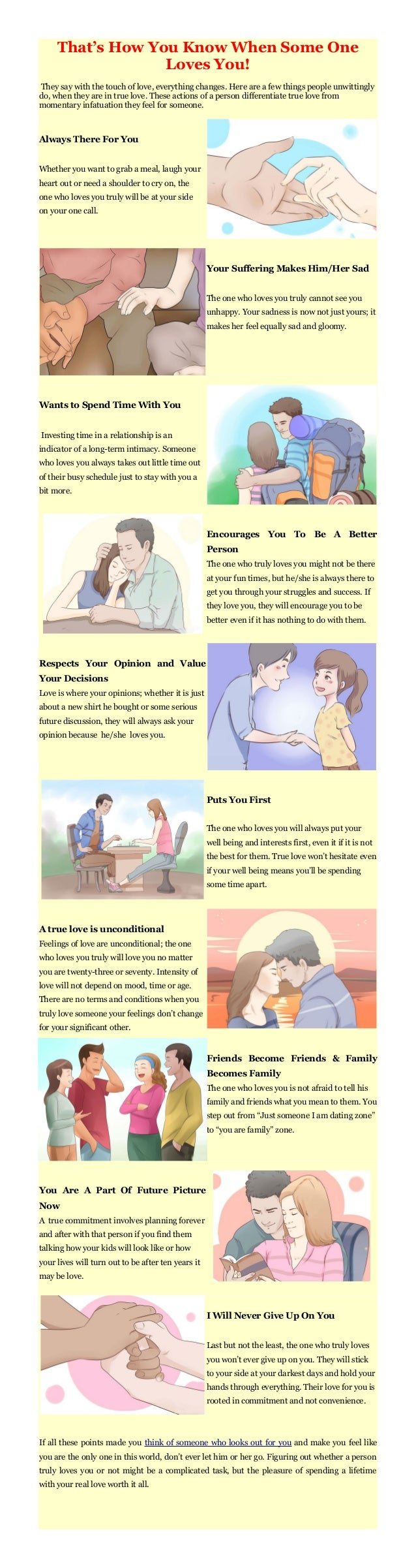 That's How You Know When Some One Loves You! They say with the touch of love, everything changes. Here are a few things pe...