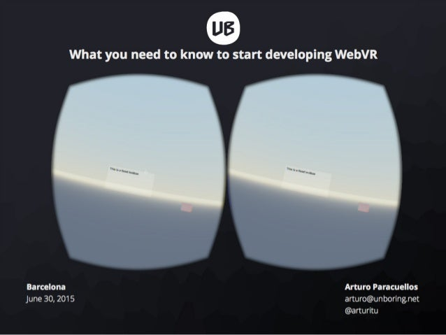 What you need to know to start developing WebVR