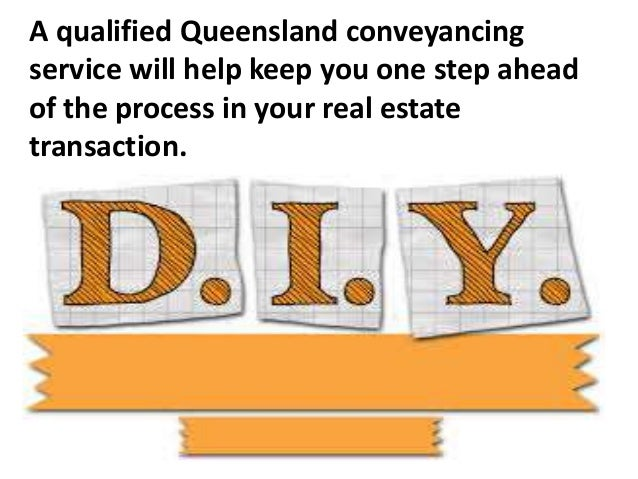 Know why diy conveyancing kits may not be the best solution 4 a qualified queensland conveyancing solutioingenieria Image collections