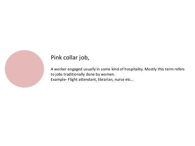 pink collar job examples