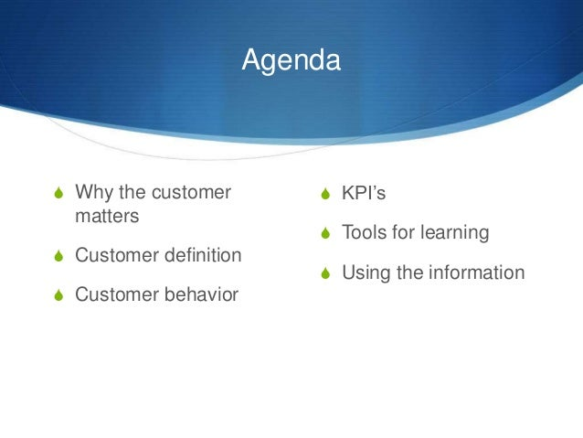 Know Your Best Customer Slide 3