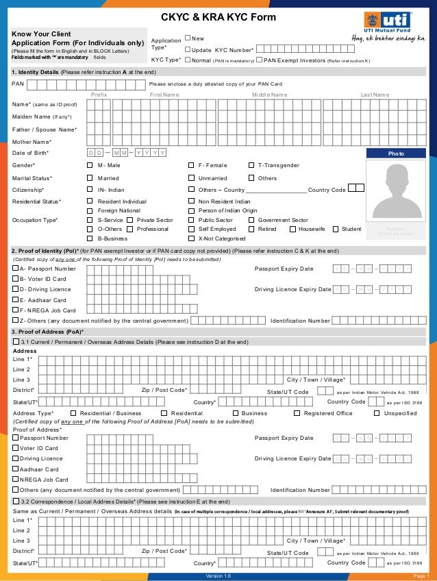 Know Your Client Application Form - For Individuals only