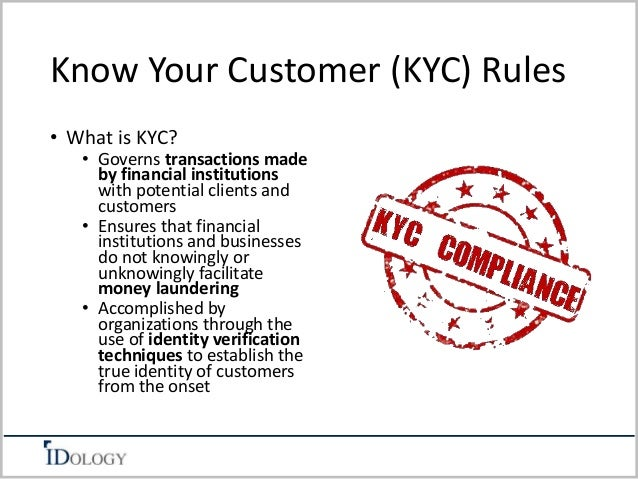 Know Your Customer KYC How well do you know your customers