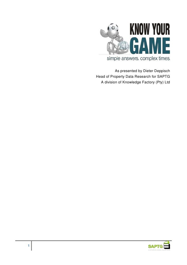 KNOW YOUR GAME Part 2 Seminar Notes