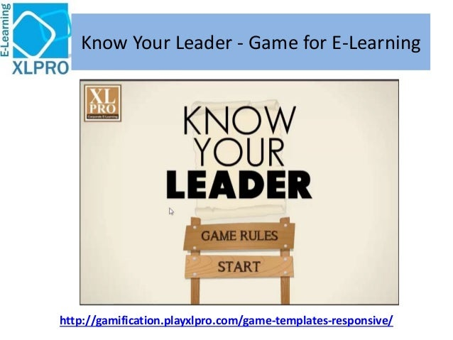 Know Your Leader - Corporate E-Learning Game template