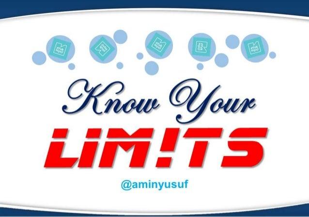 Know Your Limits   Batasan Toleransi Dalam Islam @amin yusuf