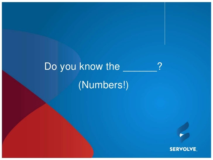 Do you know the ______?      (Numbers!)