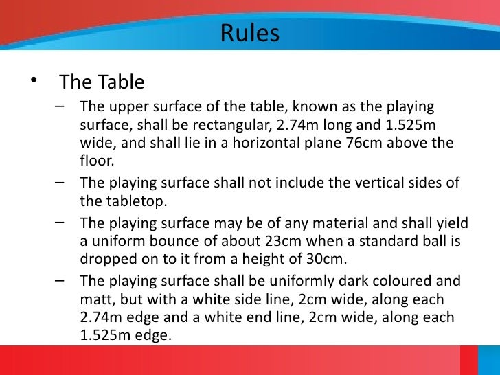 Table Tennis Overview