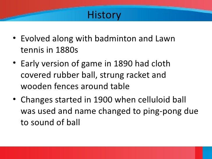 History of tennis summary
