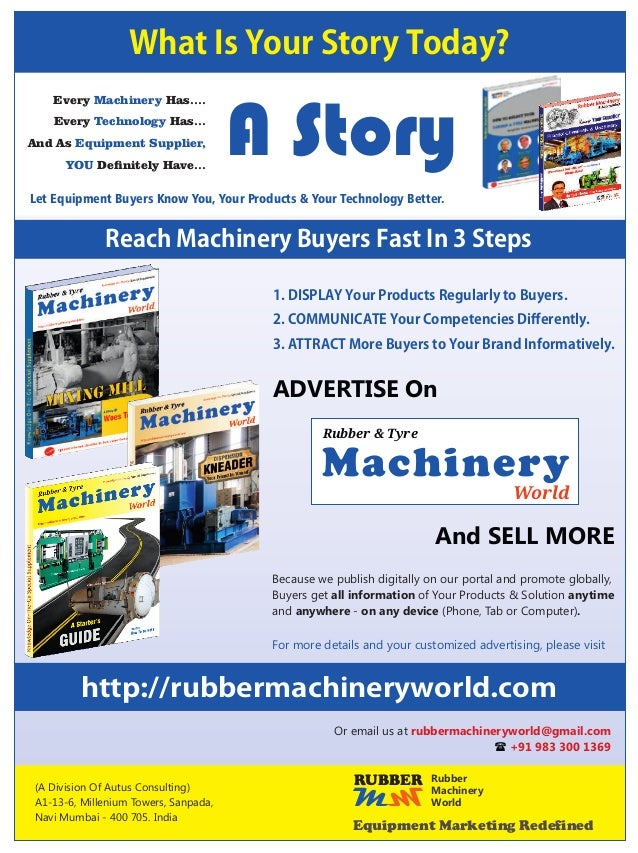 Know Your Supplier | JAN 2016 | HEVEA ENGINEERING WORKS | DRYER This machinery is used for drying the final rubber granule...