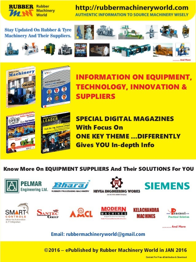 Know_Your_Supplier_Hevea_Engineering_Works_Rubber Machinery World_Jan 2016