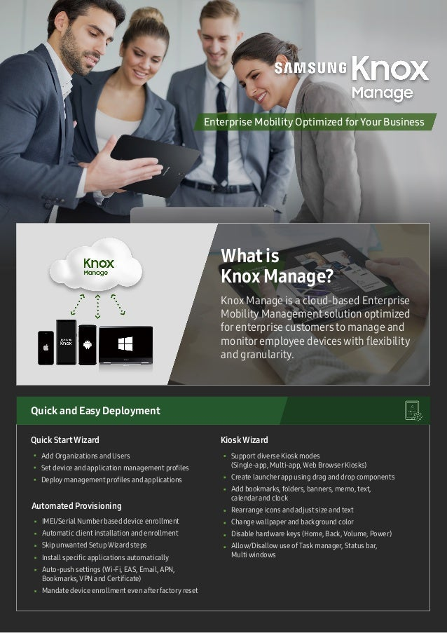 Add Organizations and Users Set device and application management profiles Deploy management profiles and applications Sup...