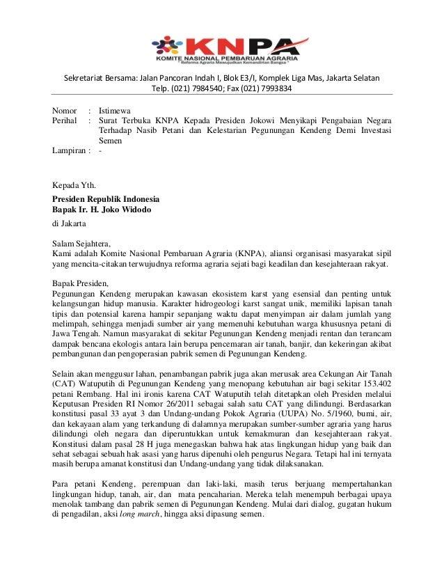 knpa saikan surat terbuka untuk presiden jokowi
