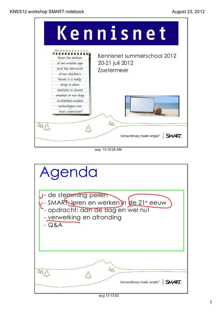 KNSS12workshopSMART.notebook                                          August23,2012                                  K...