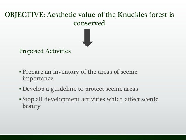 Proposed Activities  Prepare an inventory of the areas of scenic importance  Develop a guideline to protect scenic areas...