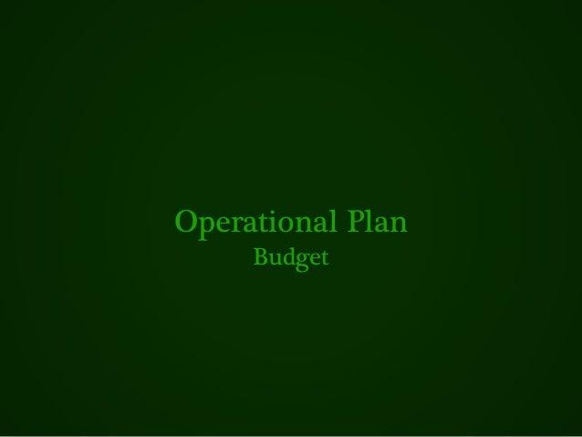 Operational Plan Budget