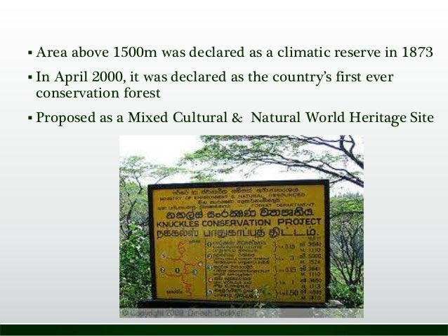  Area above 1500m was declared as a climatic reserve in 1873  In April 2000, it was declared as the country's first ever...
