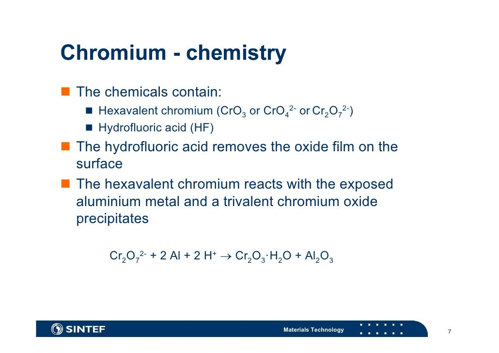 hexavalent chromium Its valence states range from -2 to +6, but in natural environments, it is generally  found as trivalent chromium [cr(iii)] or hexavalent chromium.