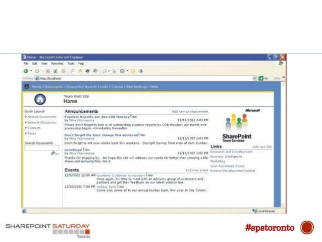 2001 SharePoint Portal Server 2001 #spstoronto