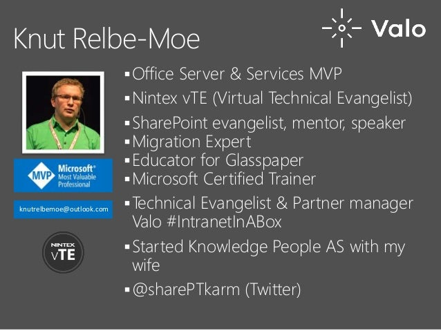 #UCO16 Office Server & Services MVP Nintex vTE (Virtual Technical Evangelist) SharePoint evangelist, mentor, speaker M...