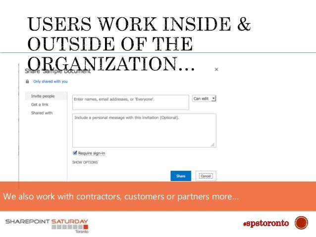We also work with contractors, customers or partners more… #spstoronto