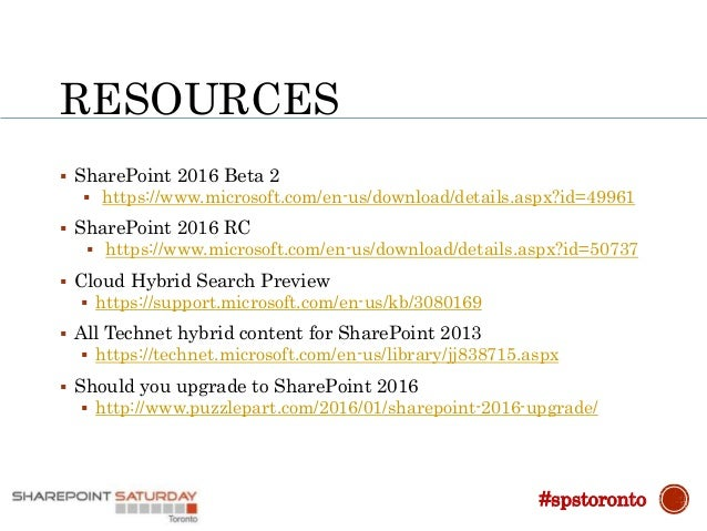 RESOURCES  Install SharePoint 2016 with more series  https://www.youtube.com/watch?v=JWEZx9SHDb0&list=PLvmwu6WYeFdjNbiy7...