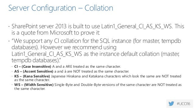 Optimize TempdB  Split across n locations  N = total number of physical cores > super myth  All temp files need to have...