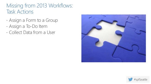 Missing from 2013 Workflows: Document Set-Related Actions  Capture a version of the Document Set  Send Document Set to R...