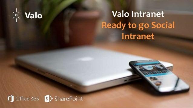Valo Intranet Ready to go Social Intranet Valo
