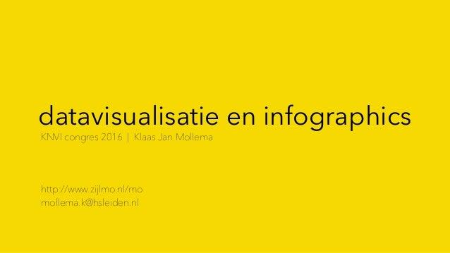 datavisualisatie en infographics KNVI congres 2016 | Klaas Jan Mollema http://www.zijlmo.nl/mo mollema.k@hsleiden.nl