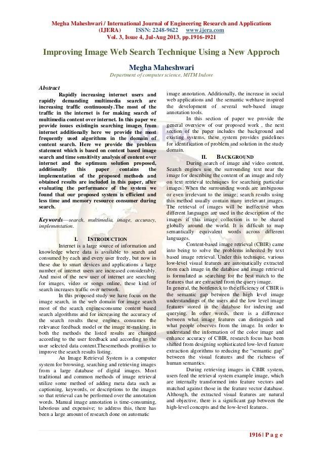 Megha Maheshwari / International Journal of Engineering Research and Applications (IJERA) ISSN: 2248-9622 www.ijera.com Vo...