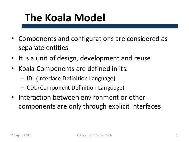 Koala component model 1 - Koala components ...