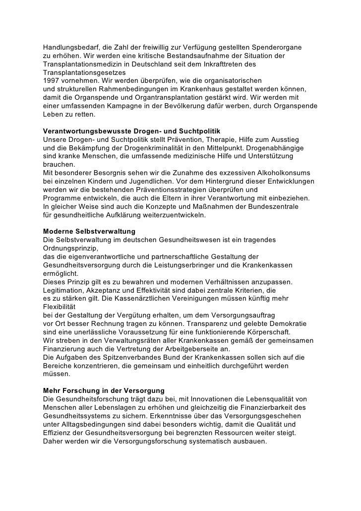 Koalitionsvertrag Gesundheit