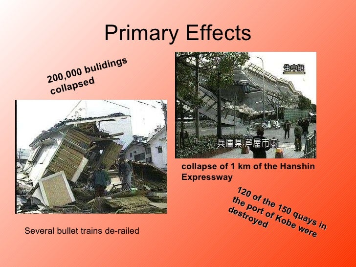 An overview of the effects of earthquakes and the kobe earthquake of 1995