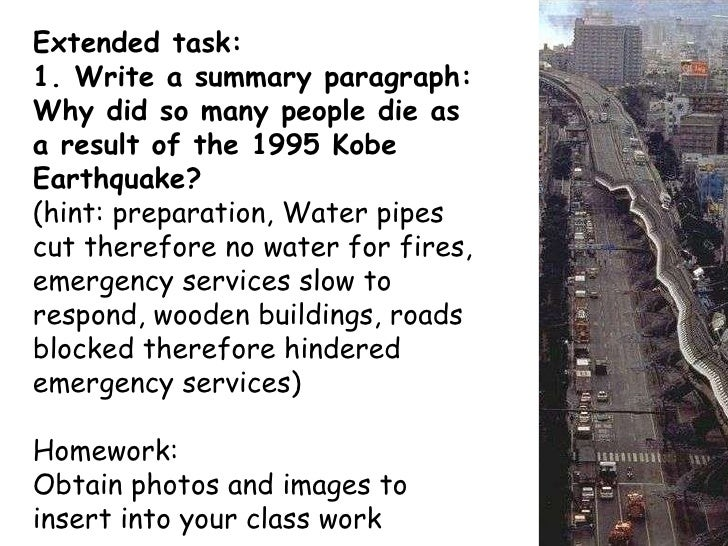 Write a paragraph about earthquake