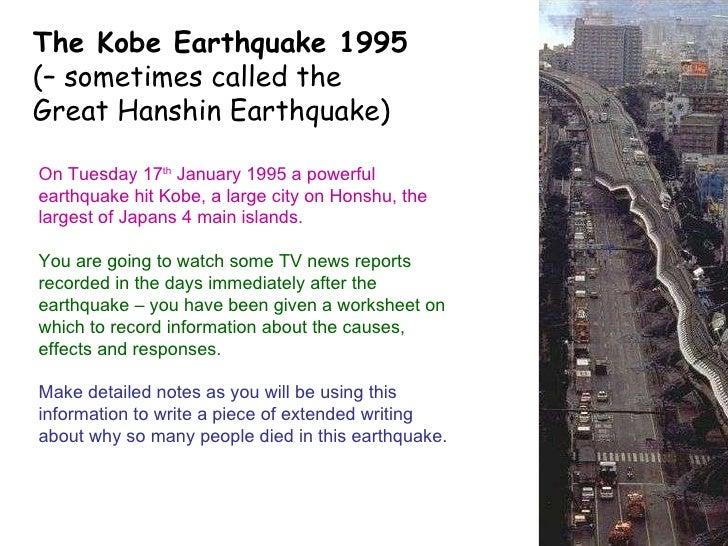 kobe earthquake case study slideshare